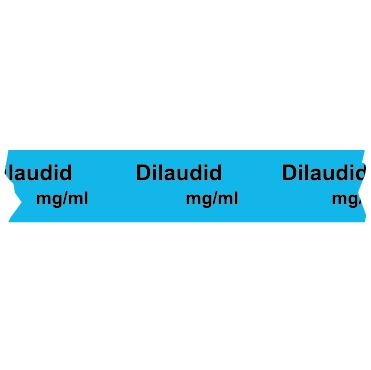 Dilaudid mg/ml Anesthesia Tape Image